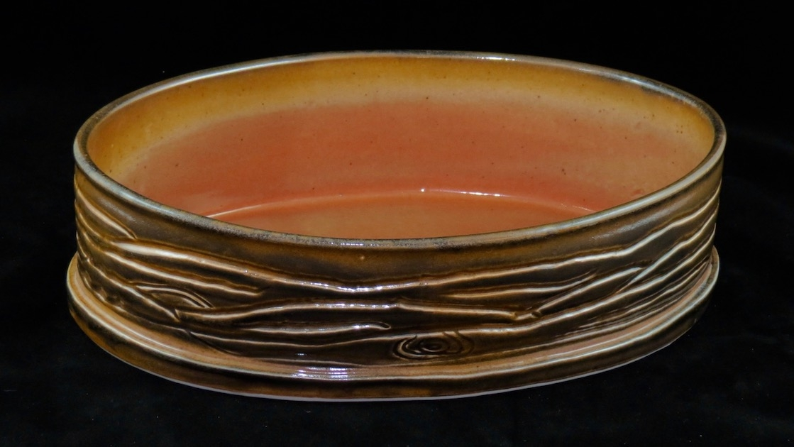 Gold Shino Serving Bowl